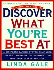 Cover of: Discover what you're best at
