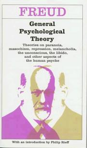 Cover of: General psychological theory by Sigmund Freud