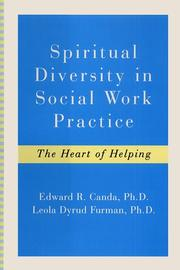 Cover of: Spiritual diversity in social work practice: the heart of helping