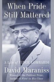 Cover of: When pride still mattered