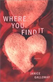Cover of: Where you find it