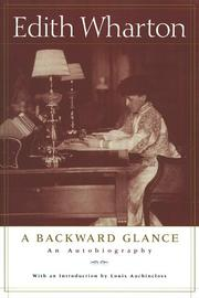 Cover of: A backward glance