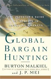 Cover of: Global bargain hunting: The Investor's Guide to Profits in Emerging Markets