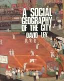 Cover of: A social geography of the city