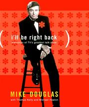 Cover of: I'll be right back