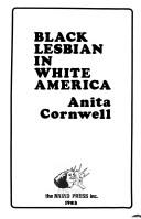 Cover of: Black lesbian in whiteAmerica | Anita Cornwell