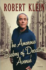 Cover of: The amorous busboy of Decatur Avenue | Klein, Robert