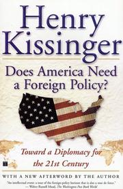 Cover of: Does America need a foreign policy?