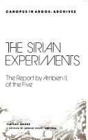 Cover of: The Sirian experiments: the report by Ambien II, of the five