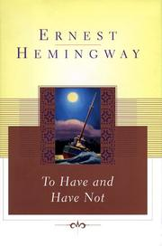 Cover of: To have and have not