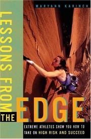 Cover of: Lessons from the Edge  | Maryann Karinch