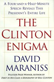 Cover of: The Clinton enigma