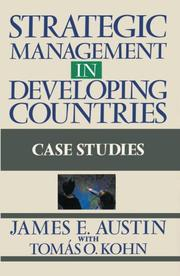 Cover of: Strategic management indeveloping countries