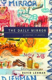 Cover of: The daily mirror: a journal in poetry