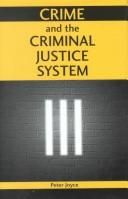Cover of: Crime and the criminal justice system