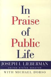 Cover of: In praise of public life