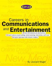 Cover of: Careers in communications and entertainment