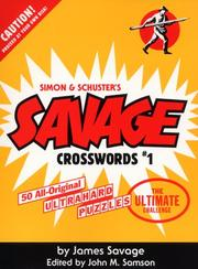 Cover of: Savage Crosswords #1