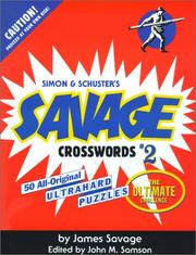 Cover of: Savage Crosswords #2