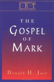 Cover of: The Gospel of Mark
