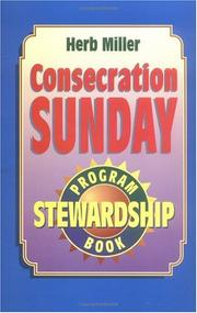 Cover of: Consecration Sunday Stewardship Program