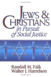 Cover of: Jews &Christians in pursuit of social justice
