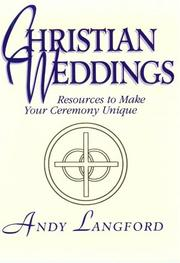 Cover of: Christian weddings