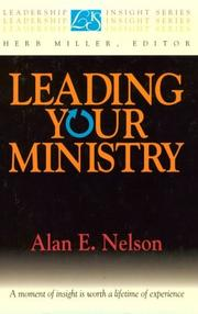 Cover of: Leading your ministry