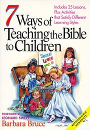 Cover of: 7 ways of teaching the Bible to children | Barbara Bruce