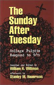 Cover of: The Sunday After Tuesday: College Pulpits Respond to 9/11