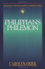 Cover of: Philippians Philemon (Abingdon New Testament Commentaries)