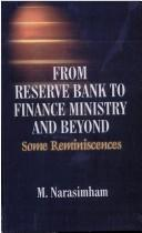 Cover of: From reserve bank to finance ministry and beyond | M. Narasimham