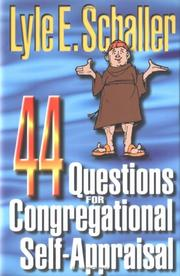 Cover of: 44 questions for congregational self-appraisal