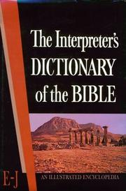 Cover of: Interpreter's Dictionary of the Bible Vol II  E - J | George A. Butterick