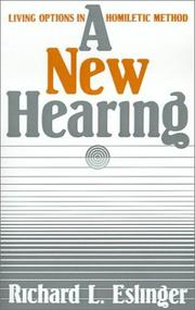Cover of: A new hearing