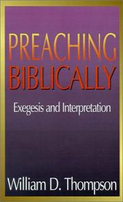 Cover of: Preaching biblically