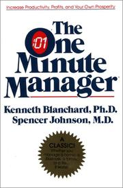 Cover of: The one minute manager by Kenneth H. Blanchard