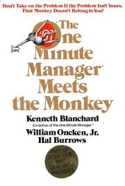 Cover of: The one minute manager meets the monkey
