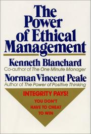 Cover of: The power of ethical management