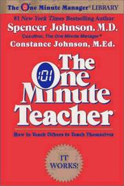 Cover of: The One Minute Teacher | Constance Johnson