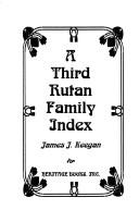 Cover of: A third Rutan family index
