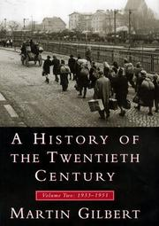 Cover of: A History of the Twentieth Century, Volume II | Martin Gilbert