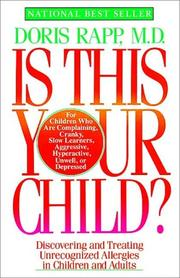 Cover of: Is this your child? | Doris J. Rapp