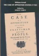Cover of: The case of opposition stated, between the Craftsman and the people
