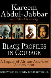 Cover of: Black profiles in courage