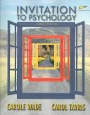 Cover of: Invitation to psychology | Carole Wade