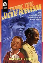 Thank You, Jackie Robinson by Barbara Cohen