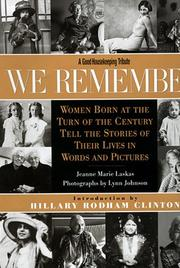 Cover of: We remember