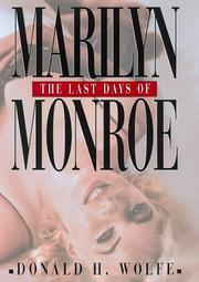 Cover of: The last days of Marilyn Monroe by Wolfe, Donald H.