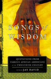 Cover of: Songs of Wisdom